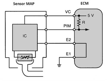 Circuito de sensor MAP